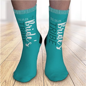 Personalized Bride's Tribe Crew Socks