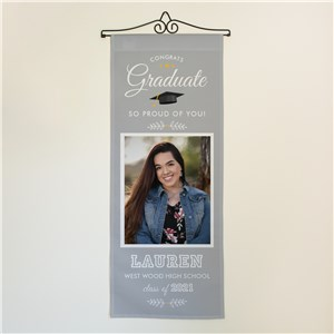 Personalized Congrats Graduate with Photo Wall Hanging