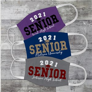 Personalized Graduation Senior Year Face Mask