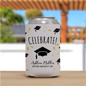 Personalized Celebrate Grad Can Cooler