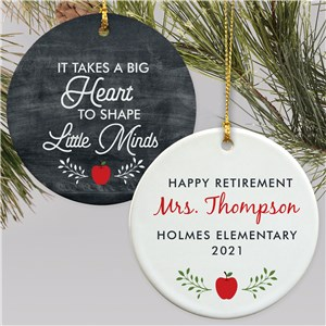 Personalized Takes a Big Heart Round Ornament U1776110