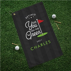 Personalized Retired See You on the Green Hand Towel U17763125