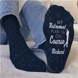 Personalized Retirement Plan is on Course Crew Socks U17767141