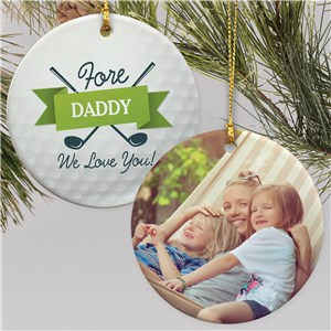 Personalized Fore You Round Ornament U1781910