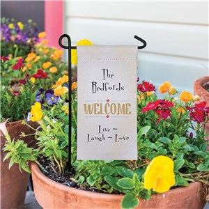 Personalized Live Laugh Love Mini Garden Flag