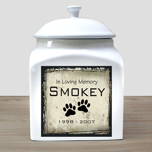 Personalized Ceramic Pet Urn | Pet Memorial Gifts
