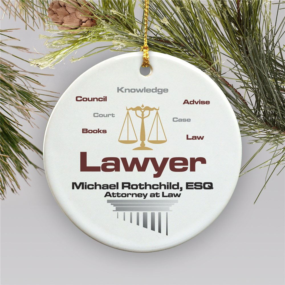 Lawyer Personalized Ceramic Ornament U278110