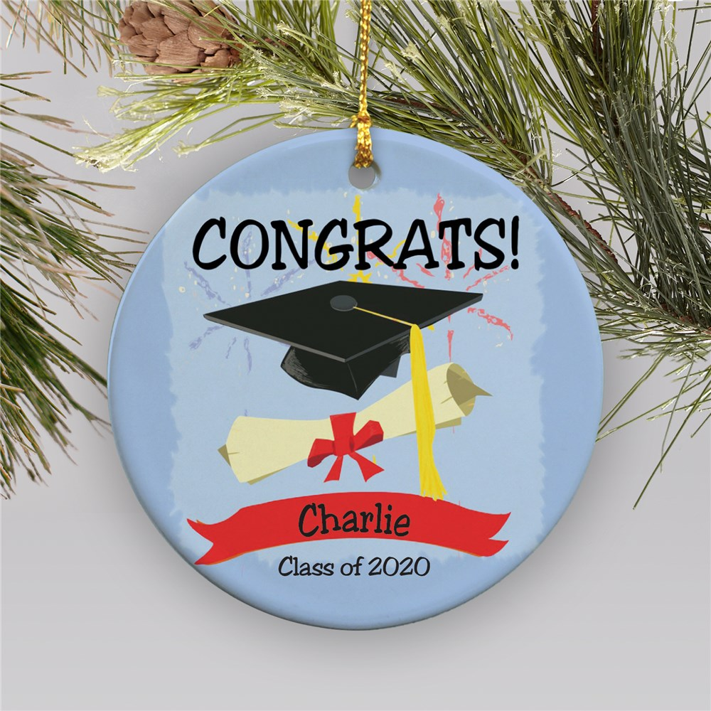 Personalized Ceramic Graduation Ornament | 2019 Graduation Keepsakes