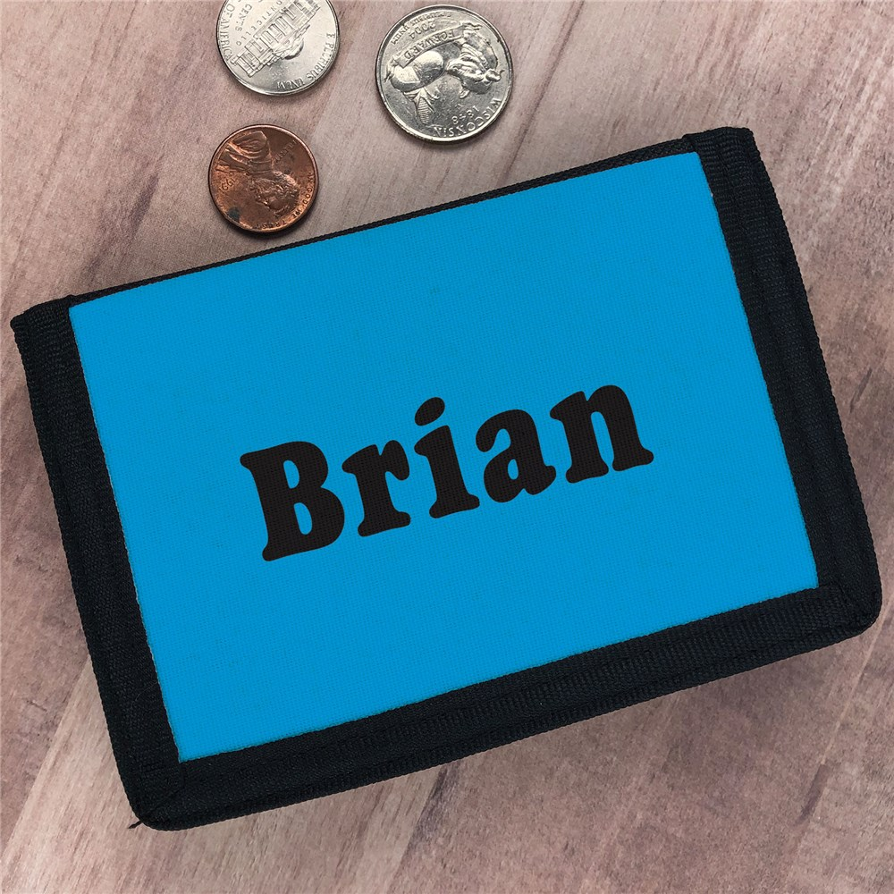 Custom Printed Name Velcro Wallet