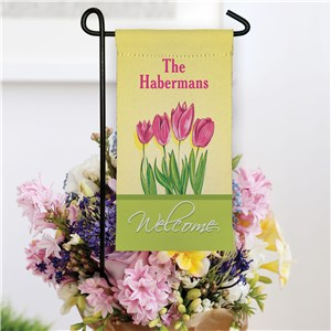 Personalized Spring Tulips Mini Floral Garden Flag
