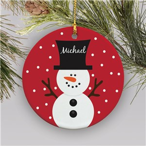 Snowman Personalized Ornament | Kids Christmas Ornaments