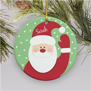 Santa Ornament | Ceramic | Kids Christmas Ornaments