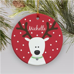 Reindeer Christmas Ornament | Ceramic | Kids Christmas Ornaments