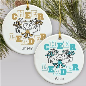 Personalized Cheerleader Christmas Ornament | Personalized Christmas Ornaments for Kids