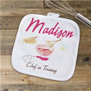 Personalized Chef In Training Pot Holder