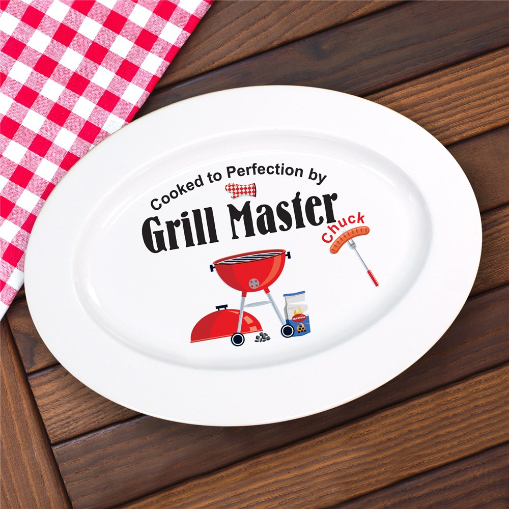 Grill Master Personalized Serving Platter | Personalized BBQ Gifts