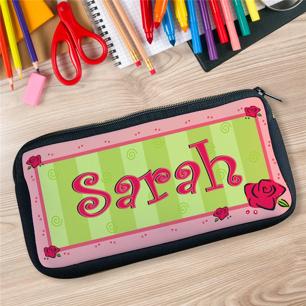 Lovely As A Rose Custom Printed Pencil Case U36257