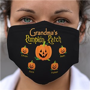 Personalized Pumpkin Patch Face Mask