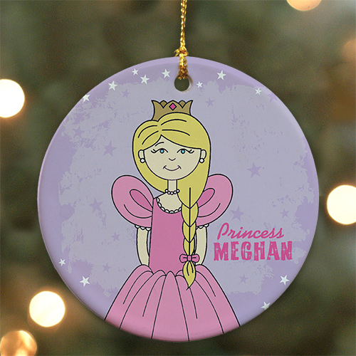 Princes Personalized Ceramic Ornament | Personalized Christmas Ornaments For Kids