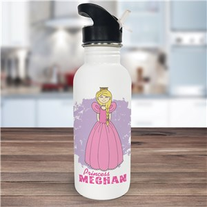 Personalized Princess Water Bottle U366020