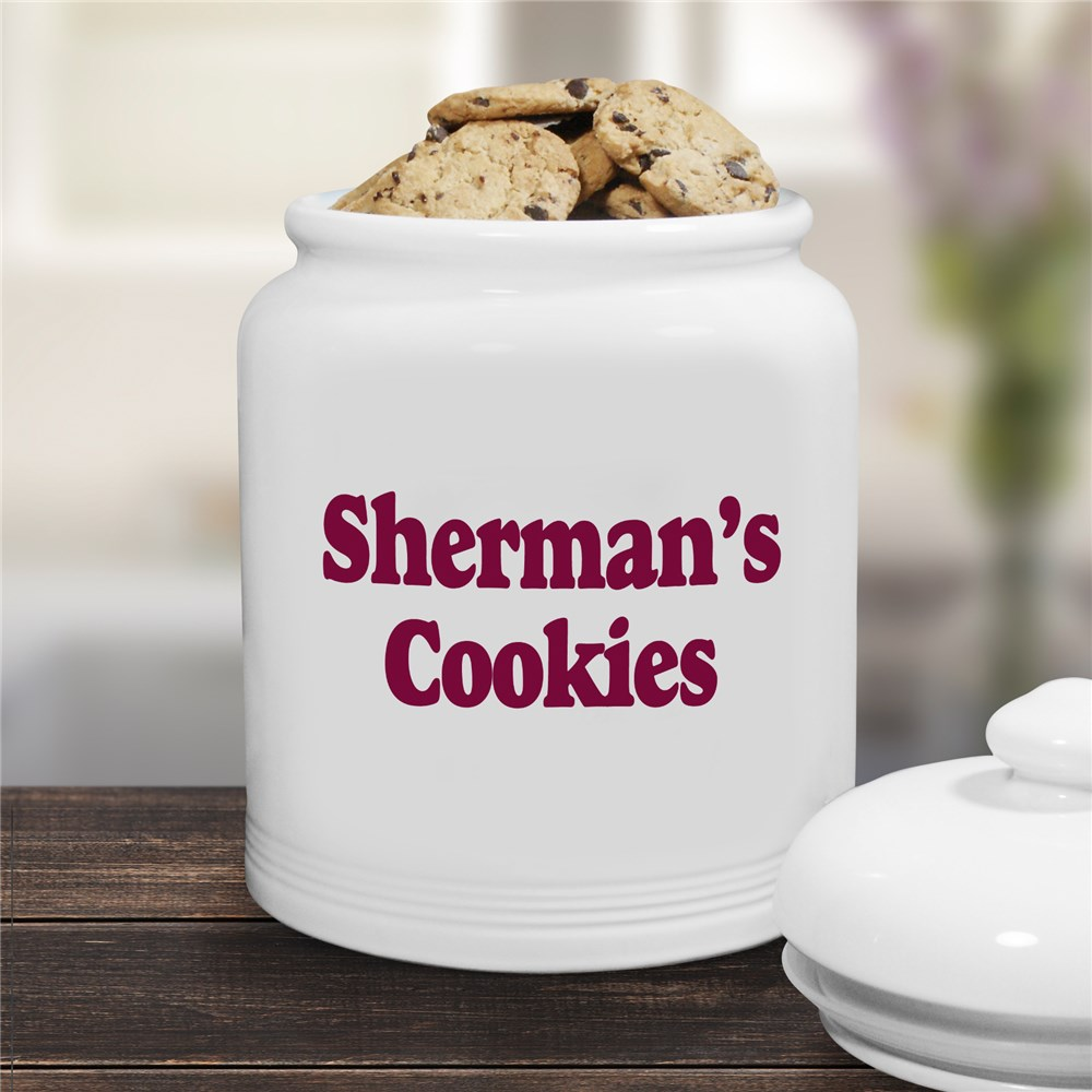 Any Message Personalized Ceramic Cookie Jar | Personalized Cookie Jars
