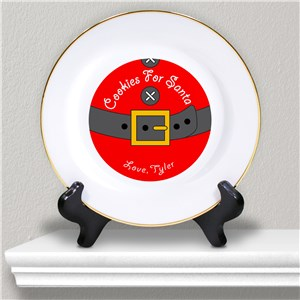 Personalized Cookies for Santa Ceramic Plate | Personalized Christmas Plates