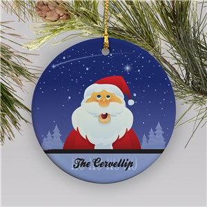 Personalized Santa Ornament | Ceramic | Kids Christmas Ornaments