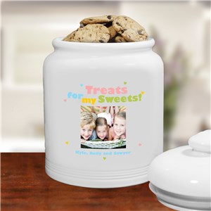 Treats for My Sweets Photo Ceramic Cookie Jar | Personalized Gifts for Grandma