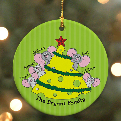 Personalized Mice Family Ornament | Personalized Family Christmas Ornaments