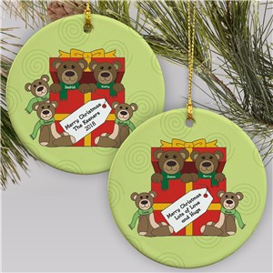 Teddy Bear Personalized Family Ornament | Personalized Family Christmas Ornaments