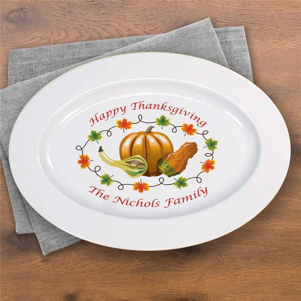 Thanksgiving Personalized Serving Platter U372217