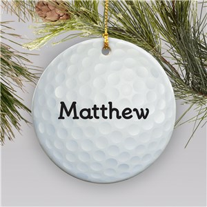 Volleyball Personalized Ceramic Ornament | Personalized Golf Ornament