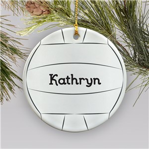 Volleyball Personalized Ceramic Ornament | Personalized Volleyball Ornament
