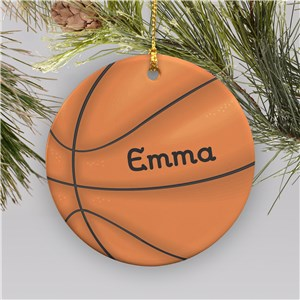 Basketball Personalized Ornament | Ceramic | Personalized Basketball Ornament