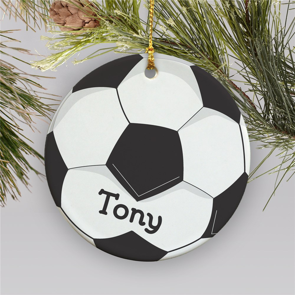 Personalized Soccer Ornament | Soccer Ball Christmas Ornament