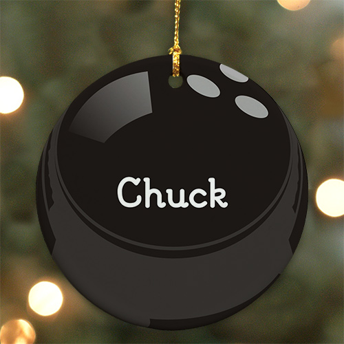 Bowling Ball Personalized Ceramic Ornament U372910