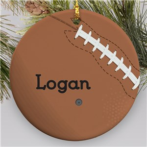 Personalized Football Round Ornament | Personalized Sports Ornaments