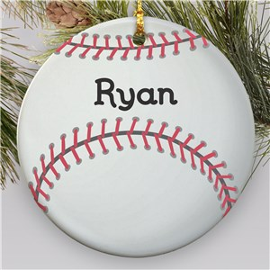 Personalized Baseball Christmas Ornament | Ceramic | Personalized Sports Ornaments