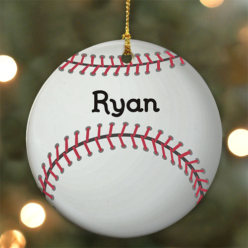 Personalized Baseball Ceramic Ornament | Personalized Christmas Ornaments For Kids