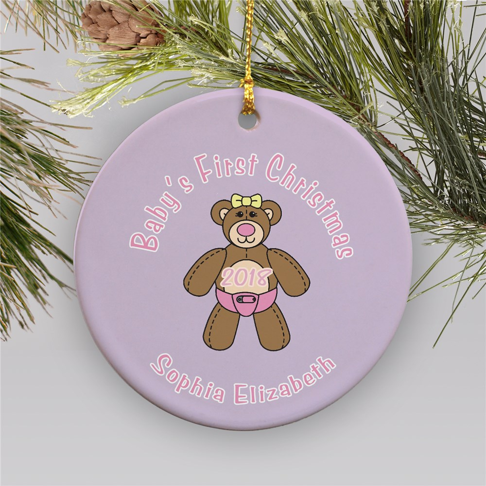 Baby's First Christmas Personalized Ornament | Baby's First Christmas Ornaments