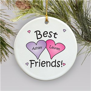 Best Friends Personalized Ornament | Personalized Christmas Ornaments For Kids