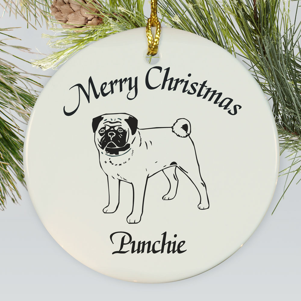 Dog Breed Personalized Ceramic Ornament | Personalized Pet Ornaments