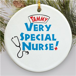 Very Special Nurse Personalized Ceramic Ornament | Personalized Nurse Ornaments