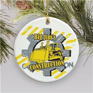 Construction Worker Personalized Ceramic Ornament U375310