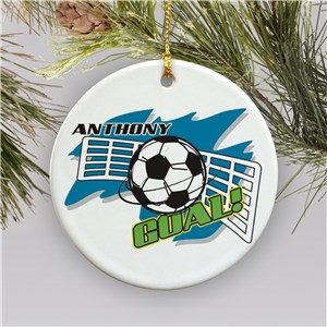 Personalized Ceramic Soccer Ornament | Personalized Soccer Ornaments