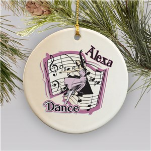Personalized Ceramic Dance Ornament U377310