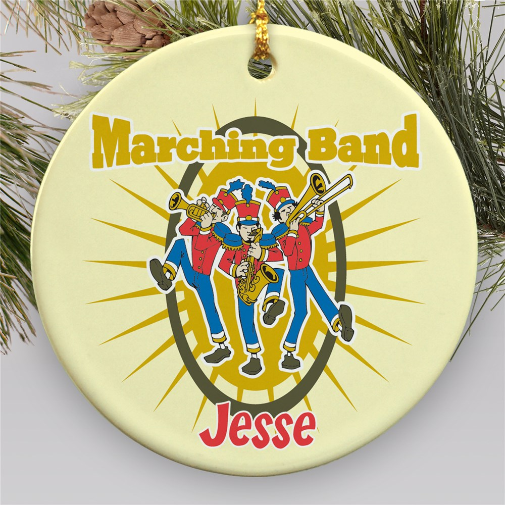 Personalized Ceramic Marching Band Ornament U377410