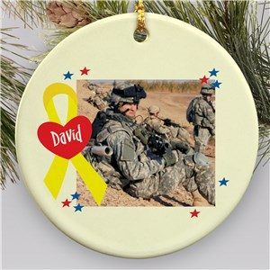 Personalized Military Photo Ornament | Personalized Military Ornament
