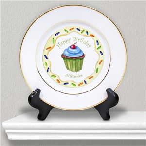 Personalized Ceramic Birthday Boy Plate U378812