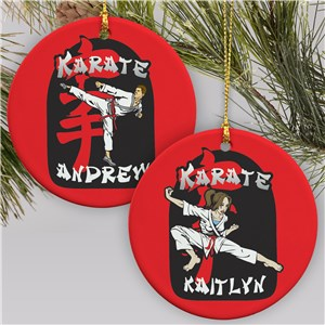 Personalized Karate Ornament | Karate Christmas Ornament
